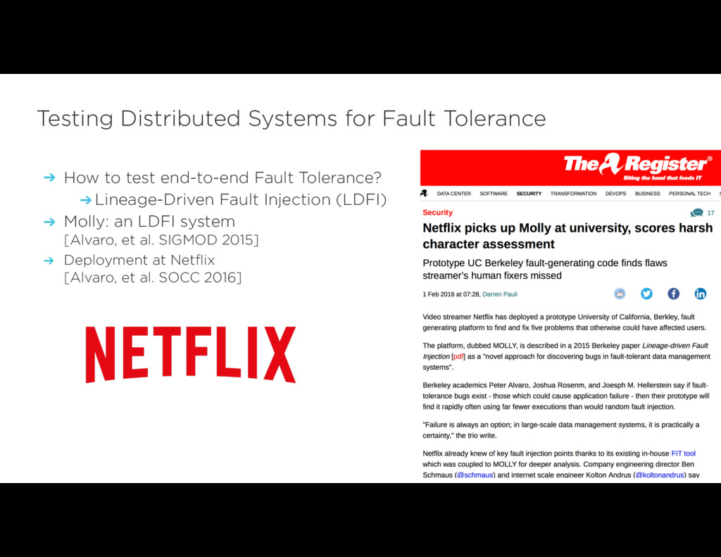 ➔ How to test end-to-end Fault Tolerance? ➔ Lin...