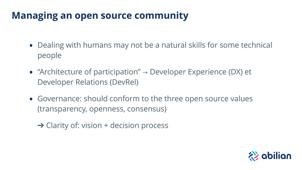 Managing an open source community • Dealing wit...