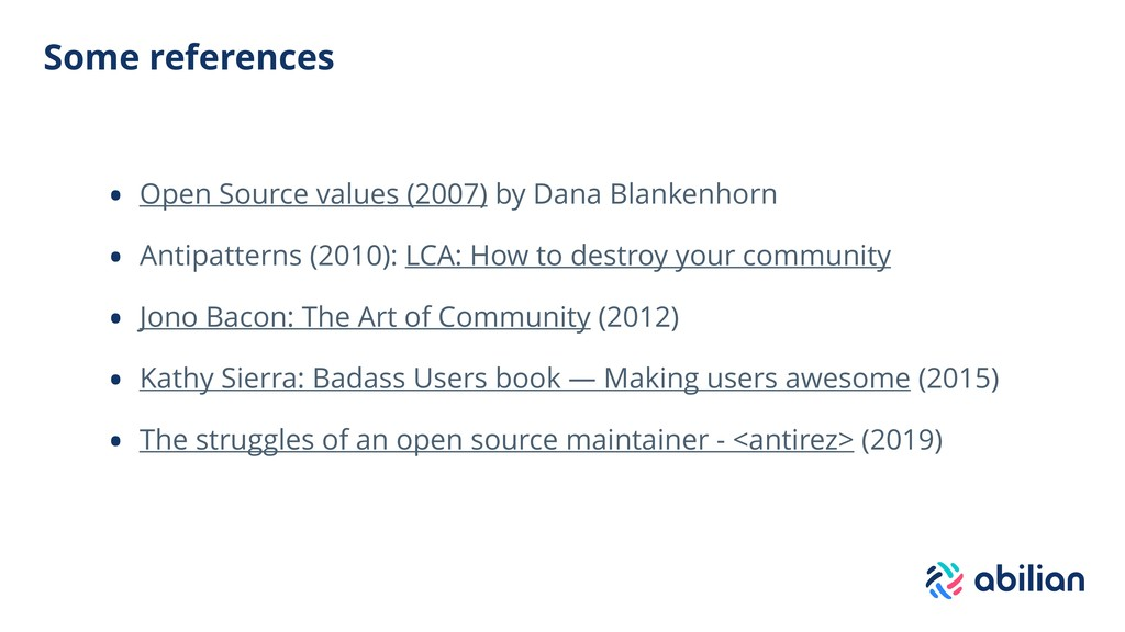 Some references • Open Source values (2007) by ...
