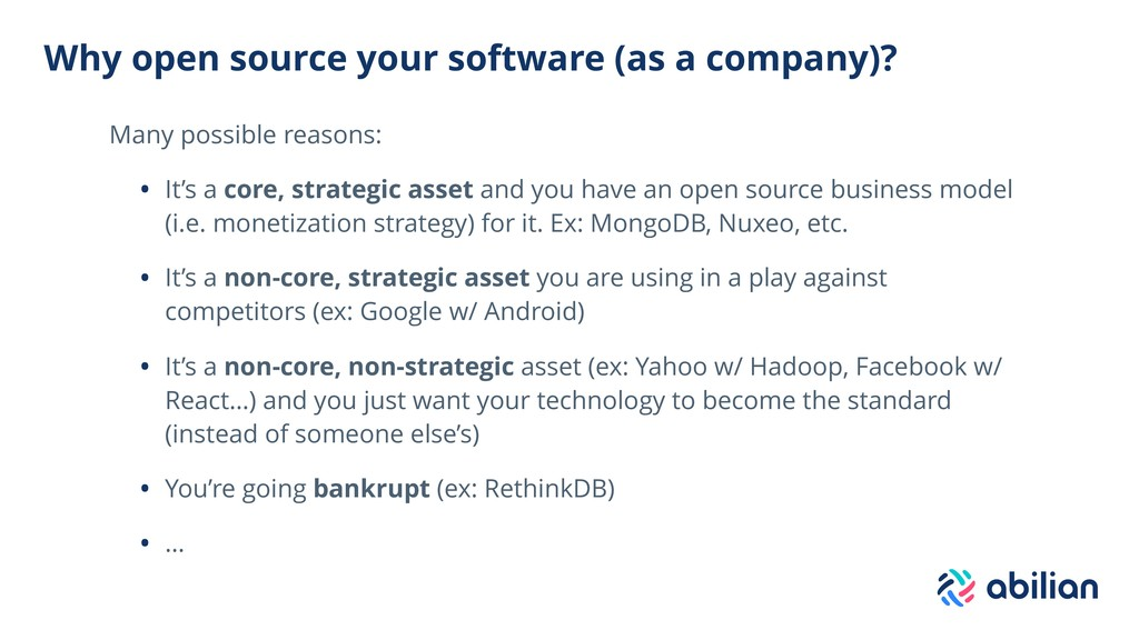 Why open source your software (as a company)? M...