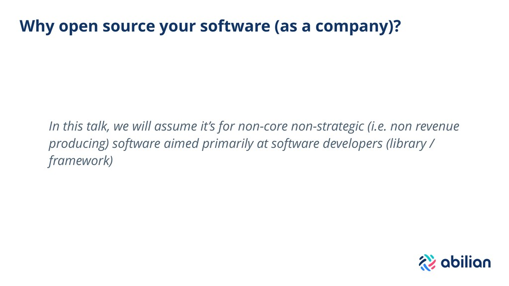 Why open source your software (as a company)? I...