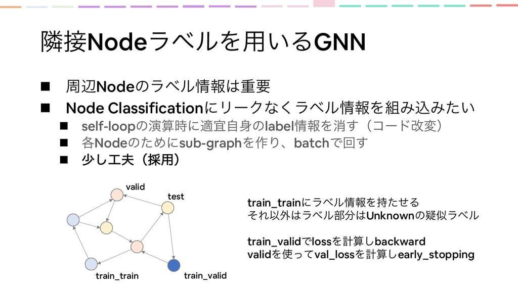 ྡNodeϥϕϧΛ༻͍ΔGNN n पลNodeͷϥϕϧใॏཁ n Node Class...