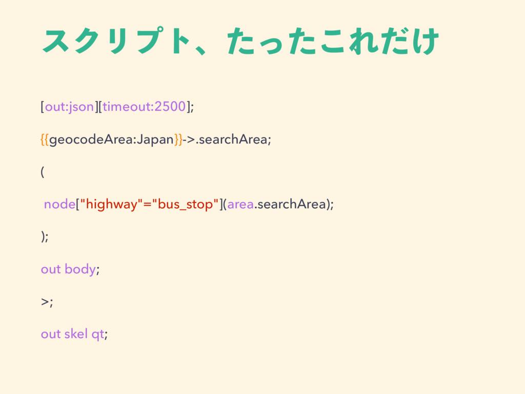 [out:json][timeout:2500]; {{geocodeArea:Japan}}...