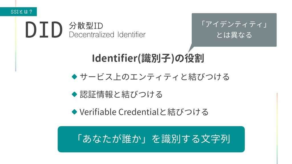 44*ͱʁ 「アイデンティティ」   とは異なる Identi fi er(識別子)の役割 ...