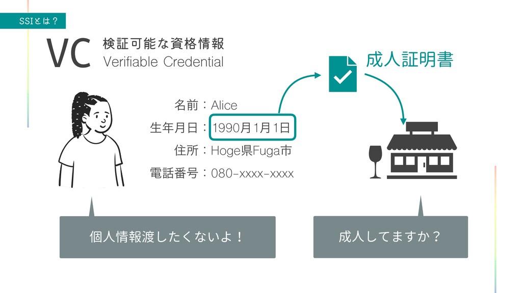 44*ͱʁ Verifiable Credential VC ݕূՄͳ֨ใ ɹɹ໊લɿ...