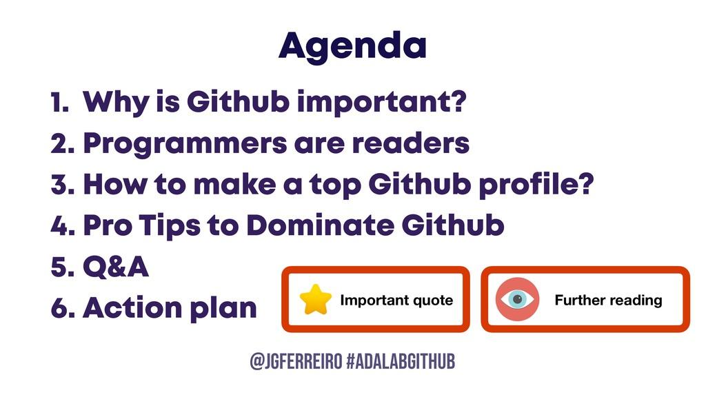 @JGFERREIRO @JGFERREIRO #ADALABGITHUB Agenda 1....