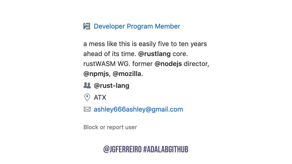 @JGFERREIRO @JGFERREIRO #ADALABGITHUB