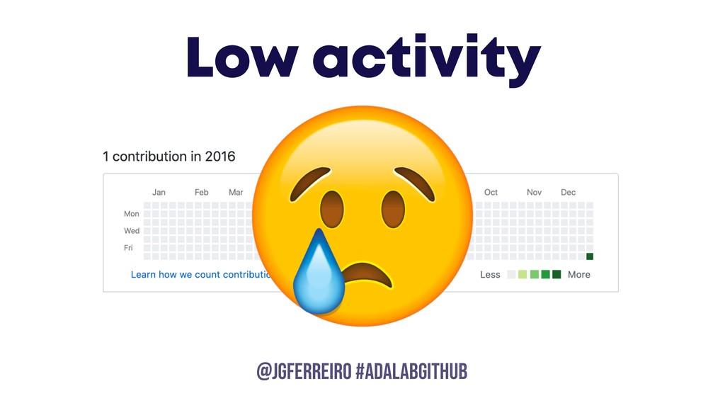 @JGFERREIRO @JGFERREIRO #ADALABGITHUB Low activ...