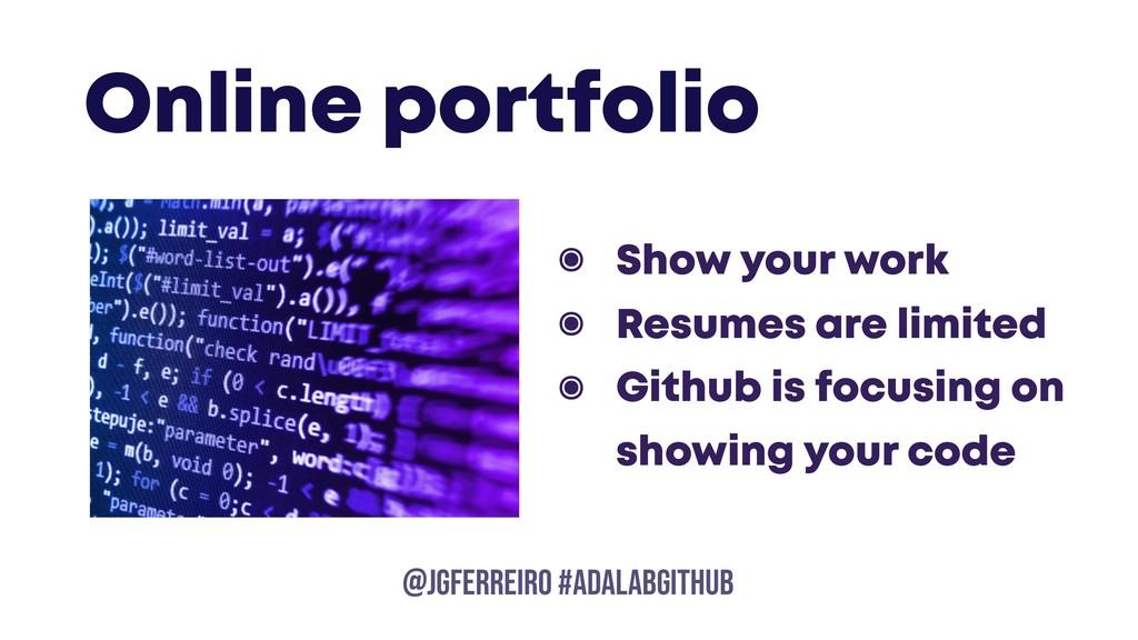 @JGFERREIRO @JGFERREIRO #ADALABGITHUB Online po...