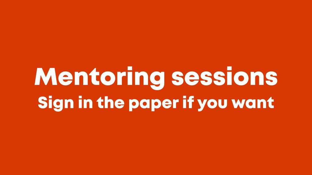 @JGFERREIRO @JGFERREIRO Mentoring sessions Sig...