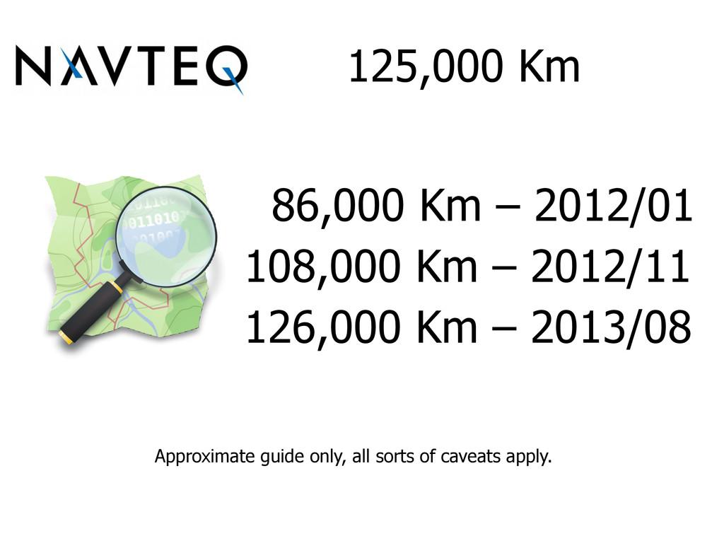 125,000 Km 86,000 Km – 2012/01 108,000 Km – 201...