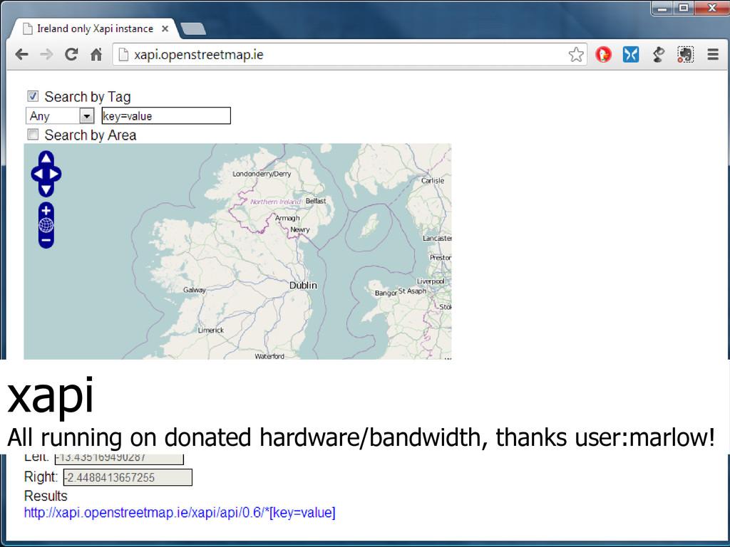 xapi All running on donated hardware/bandwidth,...