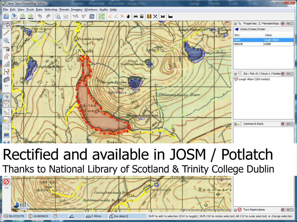 Rectified and available in JOSM / Potlatch Than...