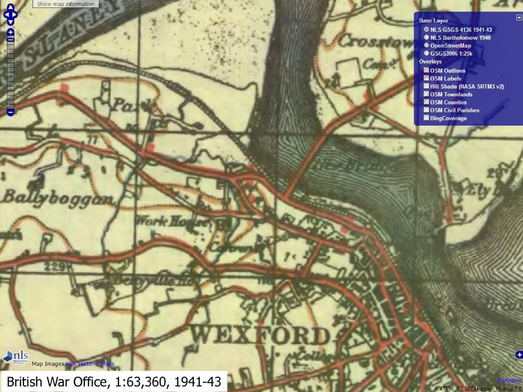 British War Office, 1:63,360, 1941-43