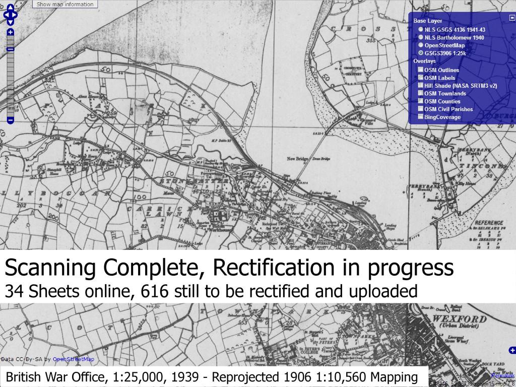 British War Office, 1:25,000, 1939 - Reprojecte...