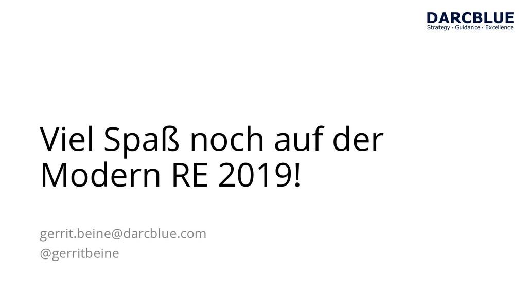 Viel Spaß noch auf der Modern RE 2019! gerrit.b...