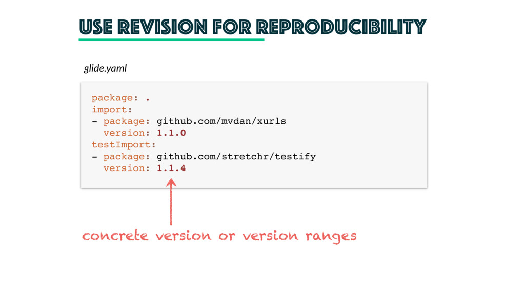 Use revision for Reproducibility glide.yaml pac...