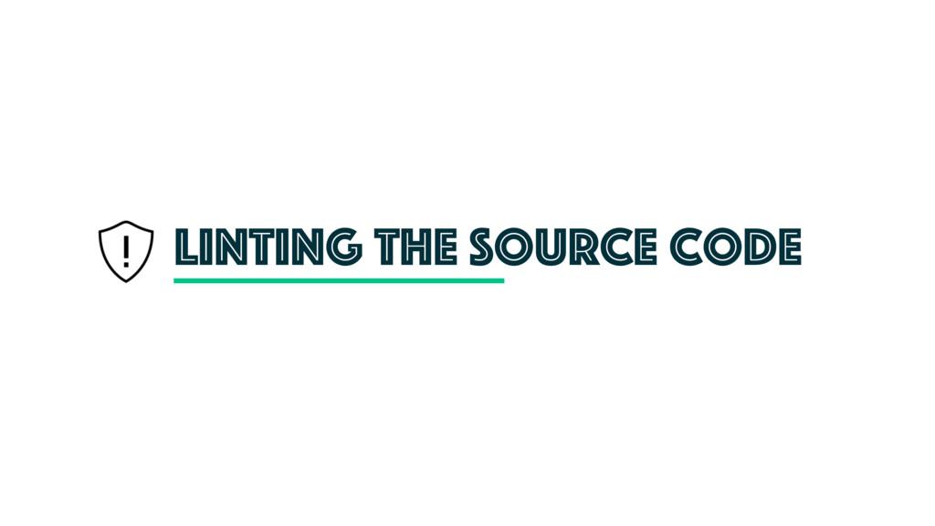 Linting the source code