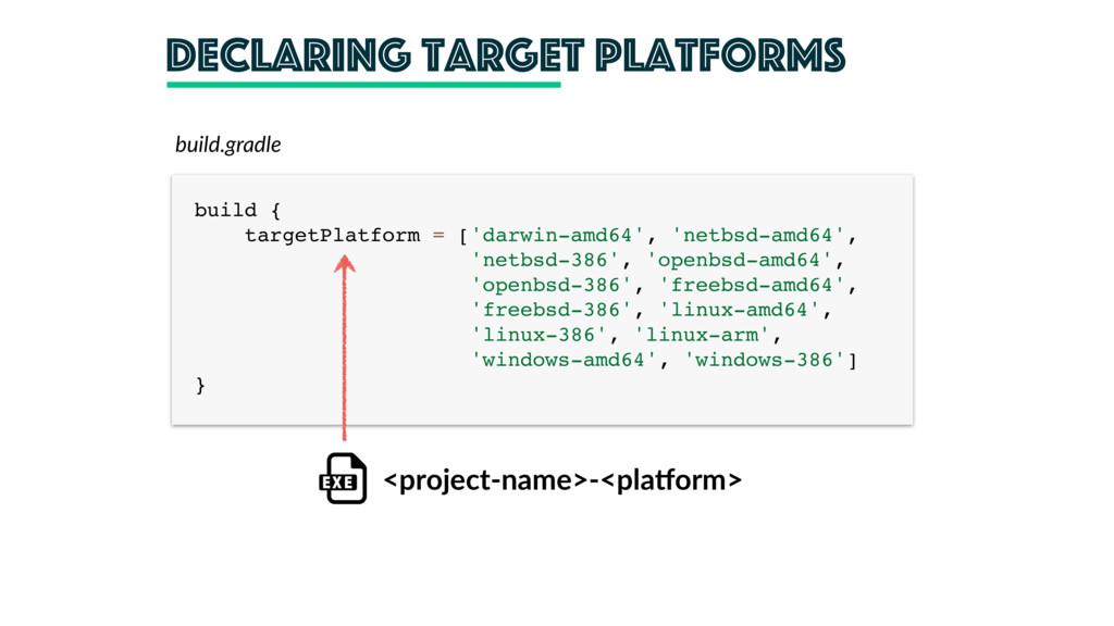 declaring target platforms build { targetPlatf...