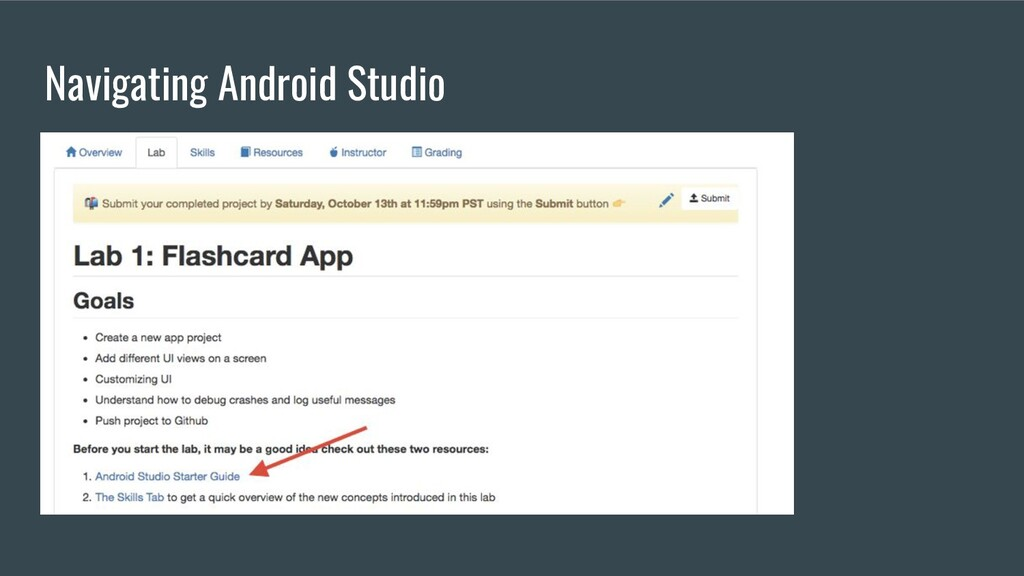 Navigating Android Studio