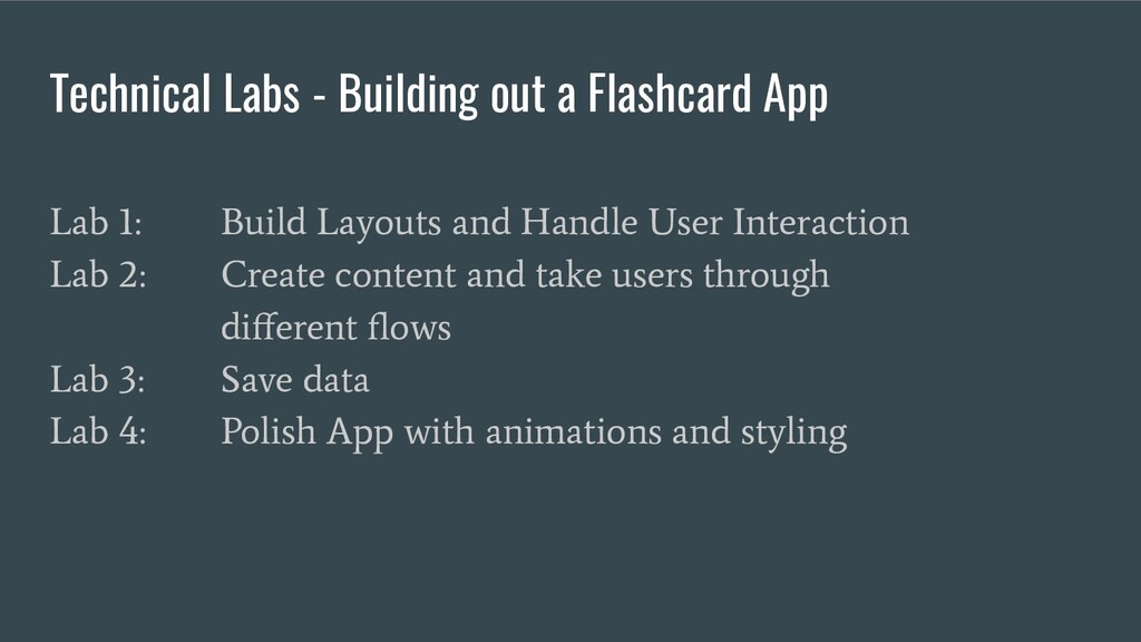 Technical Labs - Building out a Flashcard App L...