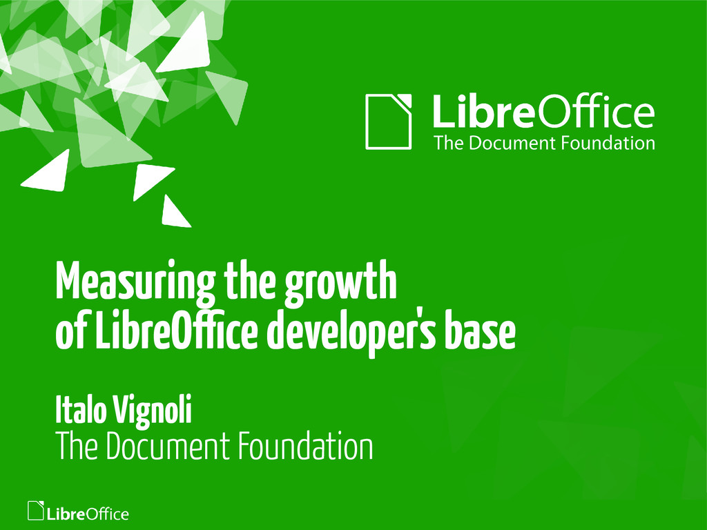 Measuring the growth of LibreOffice developer's...