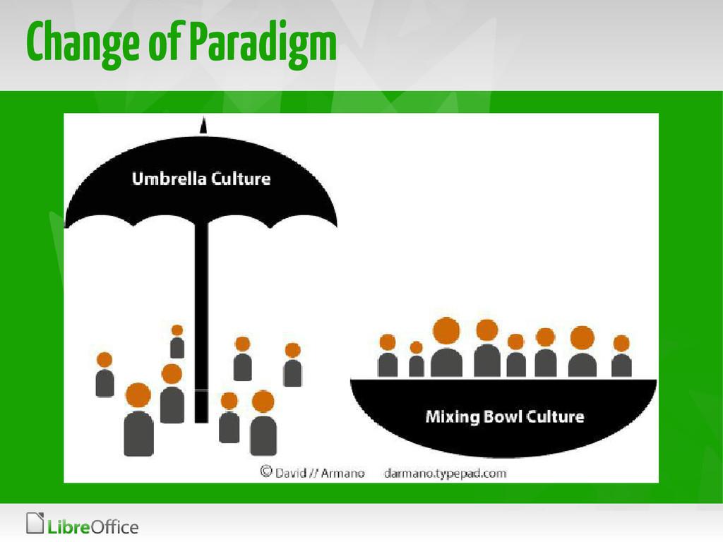 Change of Paradigm