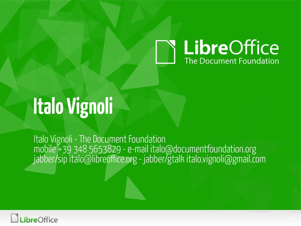 10 Italo Vignoli Italo Vignoli - The Document F...