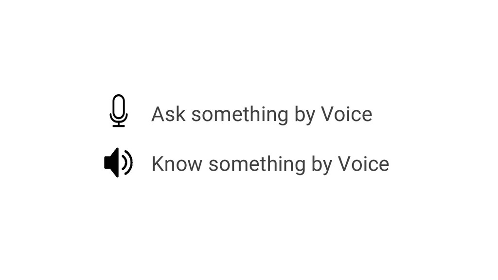 Ask something by Voice Know something by Voice