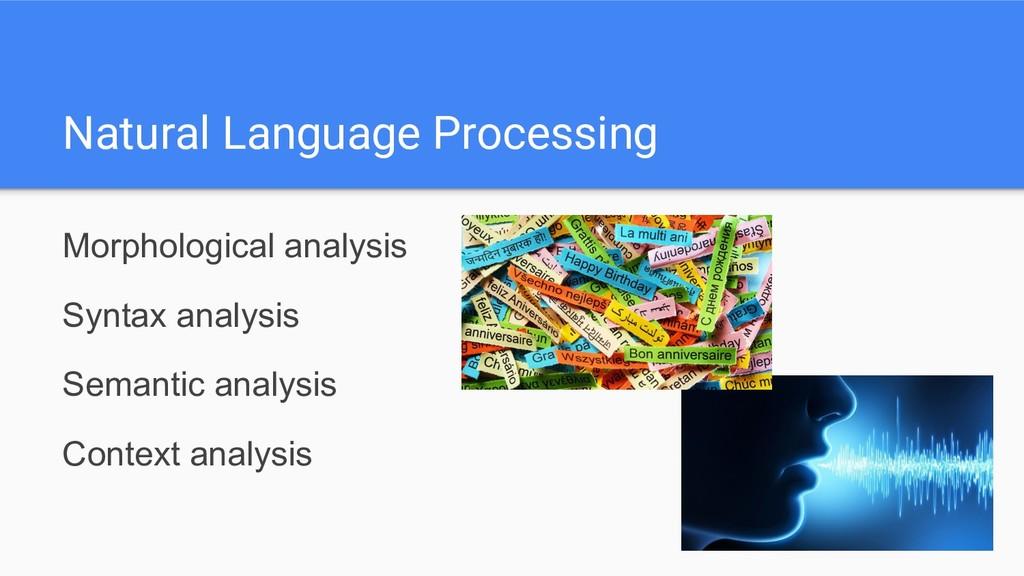 Natural Language Processing Morphological analy...