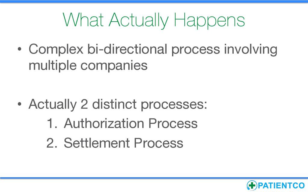 What Actually Happens • Complex bi-directiona...