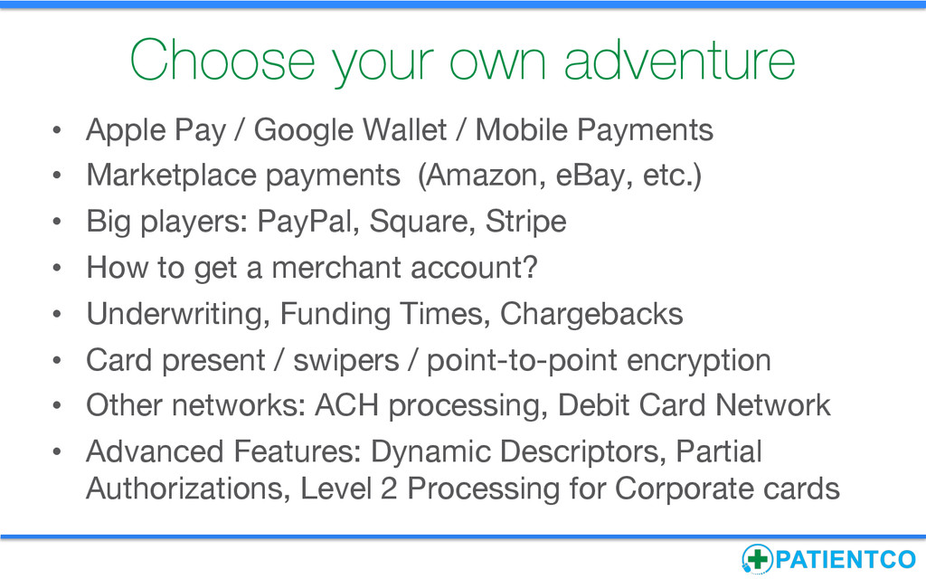 Choose your own adventure • Apple Pay / Googl...