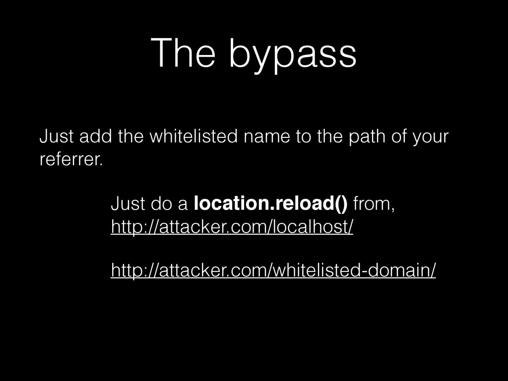 The bypass Just add the whitelisted name to the...