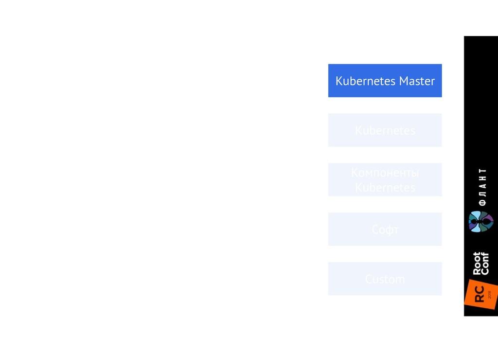 Компоненты Kubernetes Kubernetes Master Kuberne...