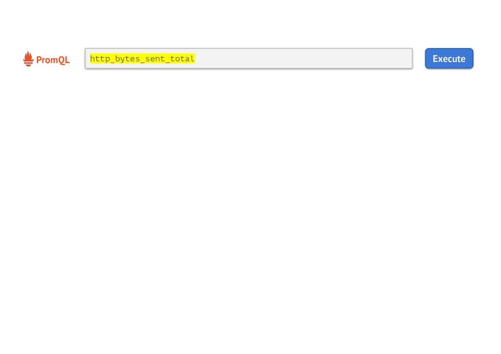 PromQL Execute http_bytes_sent_total