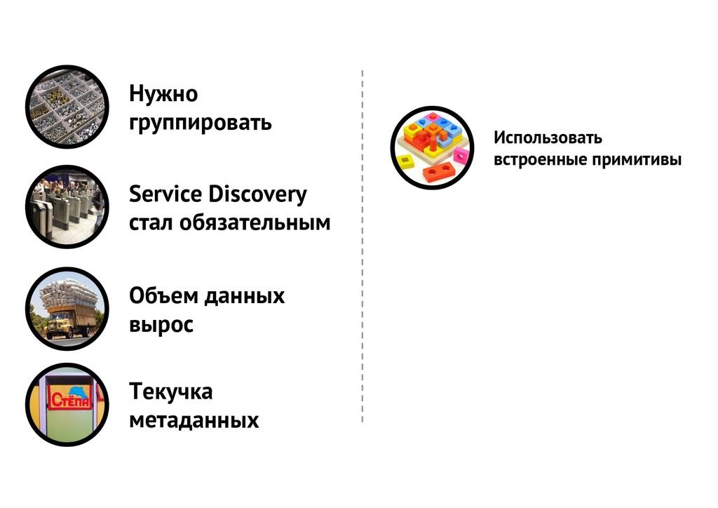 Нужно группировать Service Discovery стал обяза...