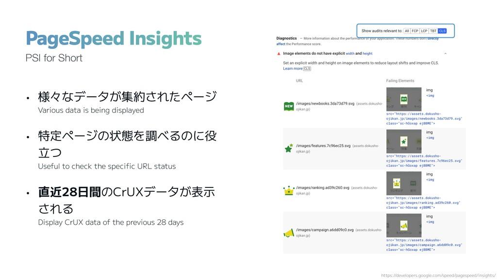 • 様々なデータが集約されたページ Various data is being display...