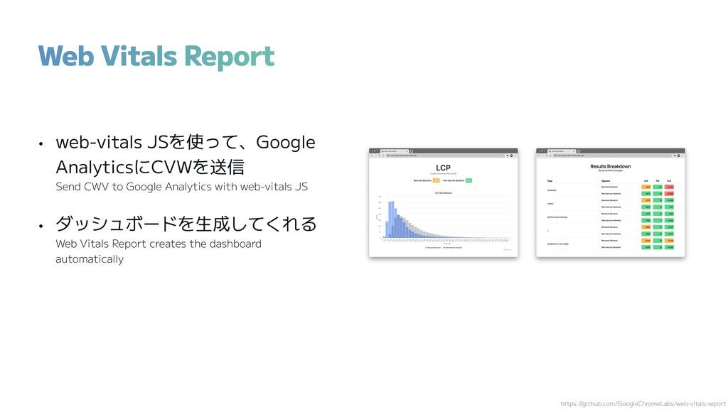 • web-vitals JSを使って、Google AnalyticsにCVWを送信 Sen...