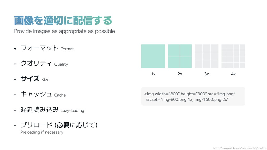"""画像を適切に配信する 1x 2x 3x 4x <img width=""""800"""" height=..."""