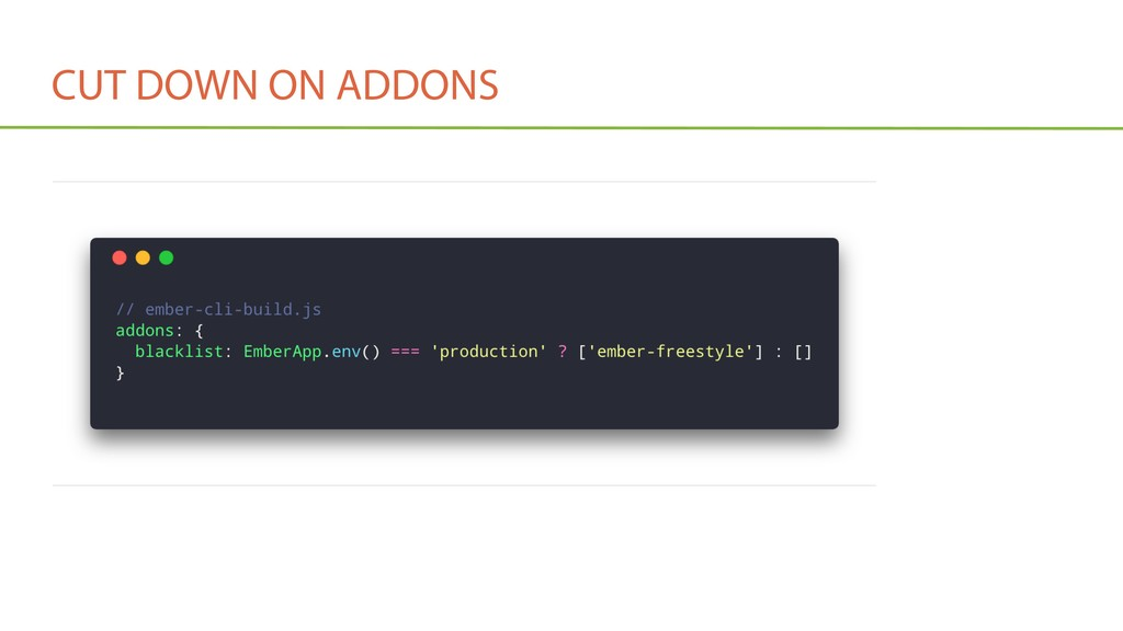 CUT DOWN ON ADDONS • Exclude addon(s) from prod...