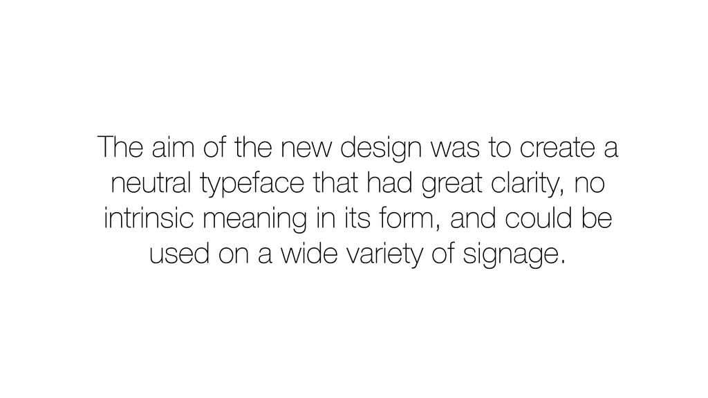 The aim of the new design was to create a neutr...