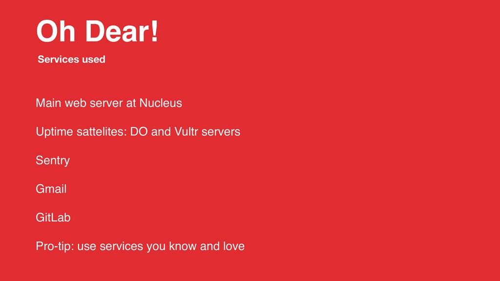 Oh Dear! Main web server at Nucleus Uptime satt...