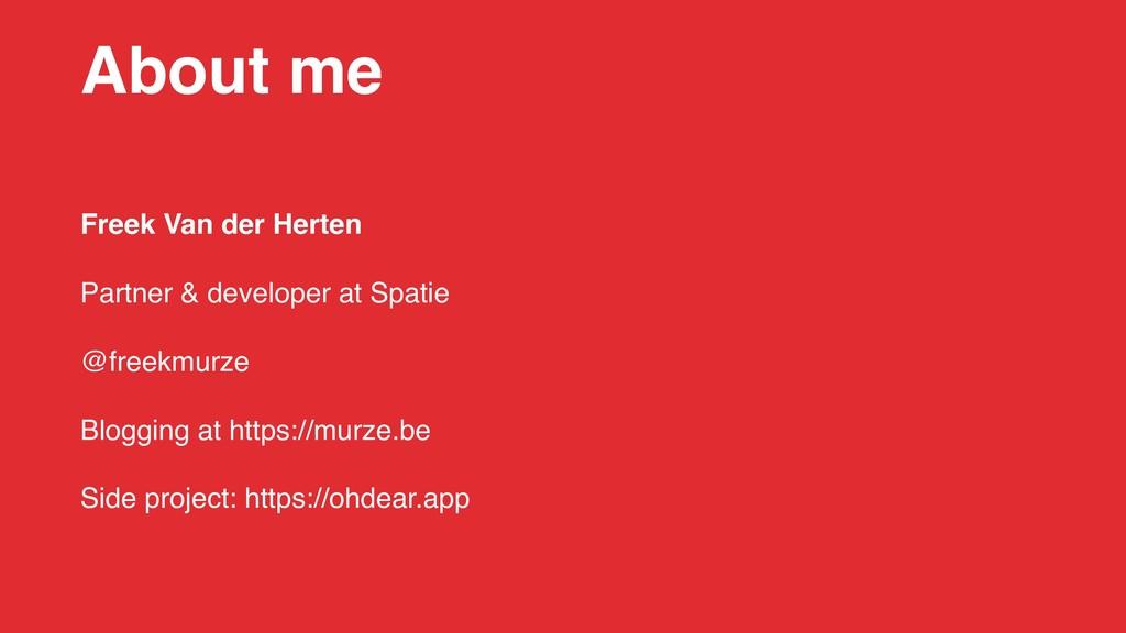 Freek Van der Herten Partner & developer at Spa...