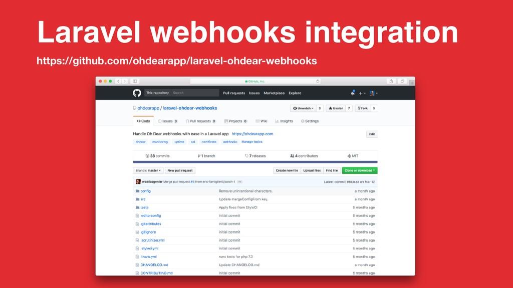 Laravel webhooks integration https://github.com...