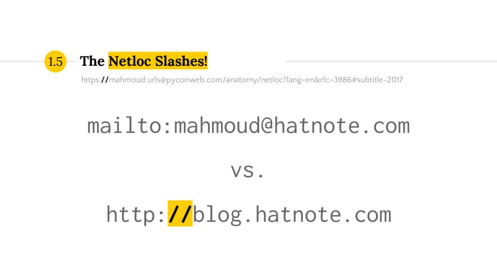The Netloc Slashes! 1.5 mailto:mahmoud@hatnote....