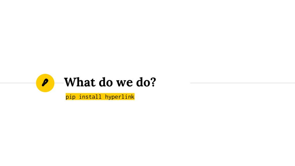 What do we do? pip install hyperlink