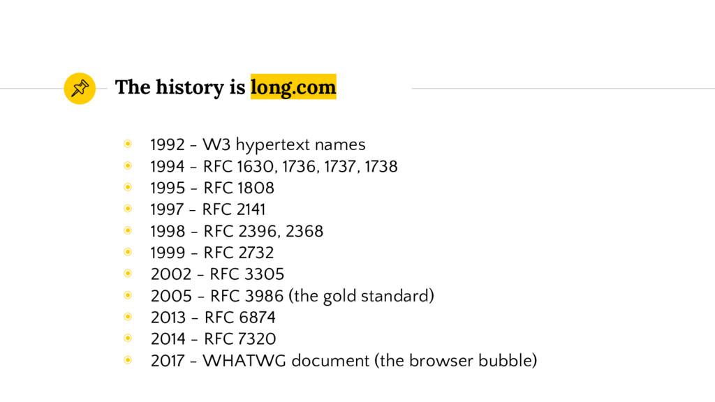 The history is long.com ◉ 1992 - W3 hypertext n...