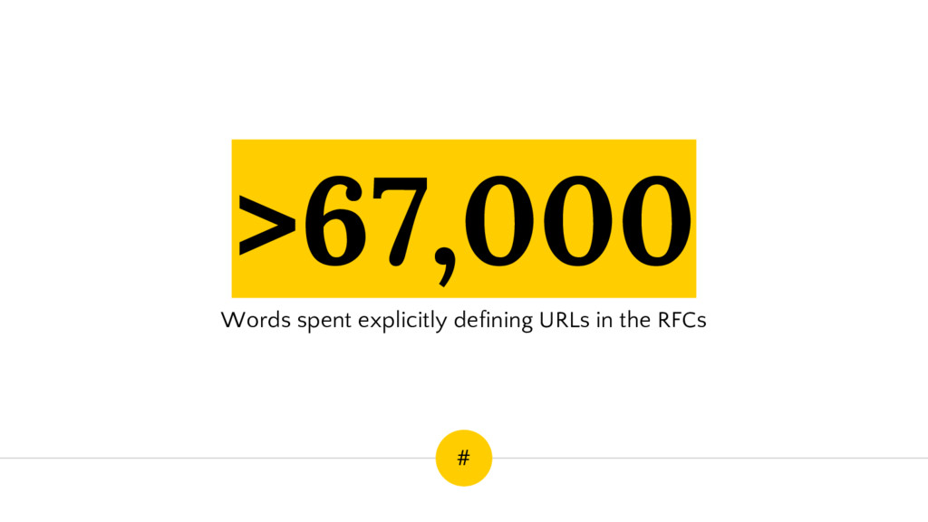 >67,000 Words spent explicitly defining URLs in...