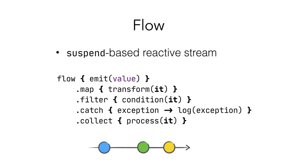 Flow • suspend-based reactive stream flow { emi...