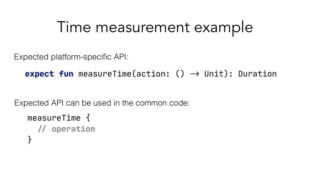 Time measurement example expect fun measureTime...